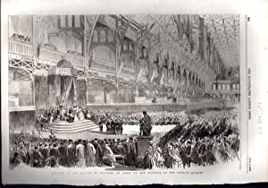 "ENGRAVING: ""The Opening of The Palace of Industry, at Paris, By the Emperor of the French&quot..."