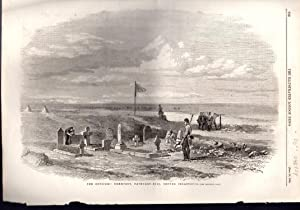 "ENGRAVING: ""The Officers' Cemetery, Cathcart Hill, Before Sebastopol"". engraving ..."