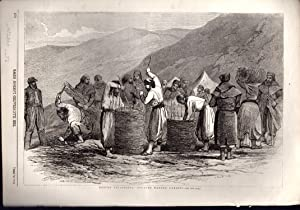 "ENGRAVING: ""Before Sebastopol: Zouaves Making Gabions"". engraving from The Illustrated ..."