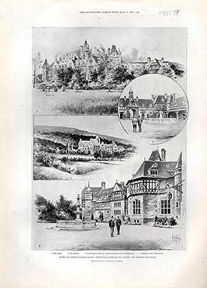 "ENGRAVING: ""Scenes at Schloss Friedrichshop: Where King Edward VII Visited the Empress ..."