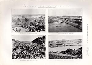 """PRINT: """"The Great Nile Dam of Assouan"""".photoengraving from The Illustrated London News, ..."""