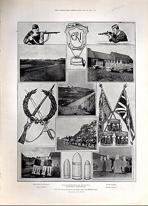 "PRINT: ""The New Rifle Range at Bulford Camp, Salisbury Plain"" . .photoengravings from The ..."