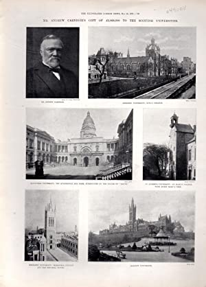 """PRINT: """"Mr. Andrew Carnegie's Gift of L2,000,000 to the Scottish Universities""""...."""