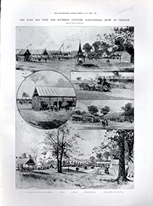 """ENGRAVING: """"The Bath and West and Southern Counties Agriculture Show at Croydon"""".engraving ..."""