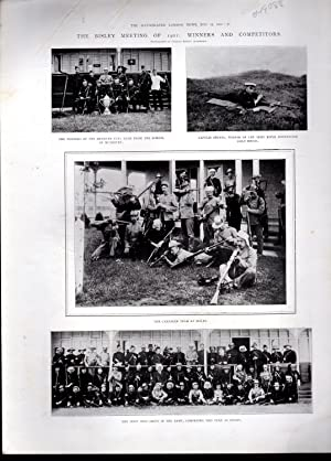"""PRINT: """"The Bisley Meeting of 1901: Winners and Competitors"""" . .photoengraving from The ..."""