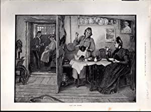 """ENGRAVING: """"Love and Gossip"""".engraving from The Illustrated London News: March 3, 1894: ..."""