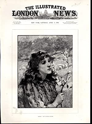 "ENGRAVING: ""Spring (after a Paintng By W. Mouat Loudan""engravng from The Illustrated ..."