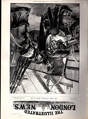 """ENGRAVING: """"Inspecting a Big Gun: The Simplest thing on Earth"""". engraving from The ..."""