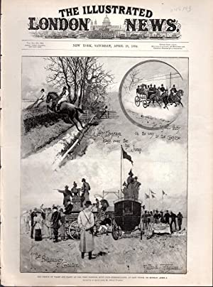"ENGRAVING: ""The prince of Wales and Party at the West Norfolk Hunt Club Steeplechases at Each ..."