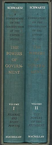 The Powers Of Government (Two Volume, Complete, in Slipcase).includes Federal and State Powers &amp...