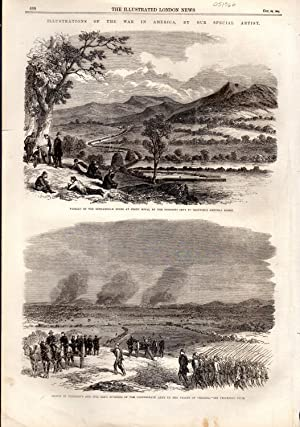 """ENGRAVING: """"The Illustrations o the War in America"""" .engravings from The Illustrated London..."""
