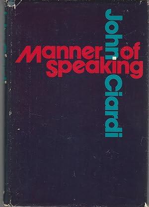 Manner of Speaking: Ciardi, John