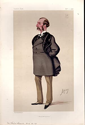 "Lithograph Print: '""Westminster"" (Sir Russell.from Vanity Fair, February 2, 1878: ..."