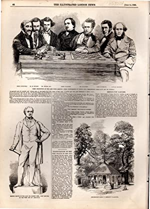 """ENGRAVING: """"Leamington Chess Meeting: The Dinner"""" .story and engraving from The ..."""