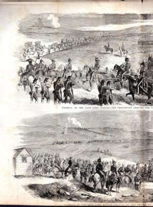 "ENGRAVING: ""Funeral of the Late Lord Raglan "".story & Double Page of engravings from ..."