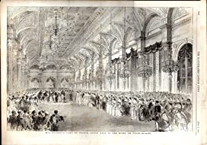 "ENGRAVING: ""Her Majesty's Visit to France--Grand Ball at the Hotel De Ville "" . ..."