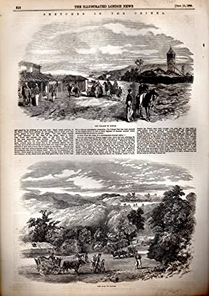 """ENGRAVING: """"Sketches in the Crimea"""".engraving from The Illustrated London News, September..."""