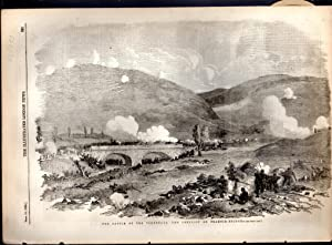 """ENGRAVING: """"The Battle Of the Tchernaya--The Conflict on Traktir-Bridge"""".engraving from The..."""