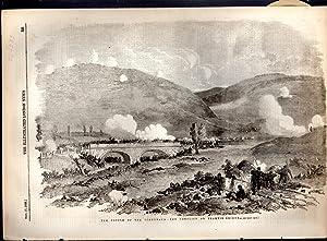 "ENGRAVING: ""The Battle Of the Tchernaya--The Conflict on Traktir-Bridge"".engraving from ..."