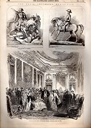 """ENGRAVING: """"The Paris Universal Exhibition"""".engraving from The Illustrated London News, ..."""
