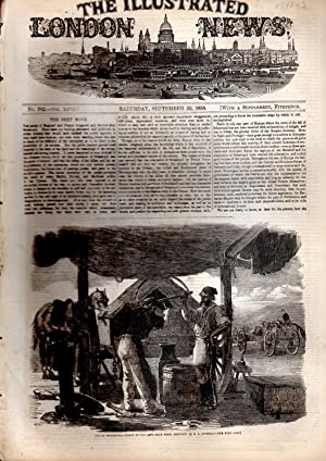 """ENGRAVING: """"Before Sebastopol--Forge of the Left Siege Train"""".engraving from The ..."""