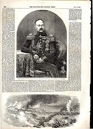 """ENGRAVING: """"Prince Gortschakoff"""". story/engraving from The Illustrated London News, ..."""