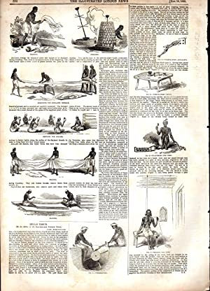 "ENGRAVING: ""Indian Tissue"". story & engraving from The Illustrated London News, ..."