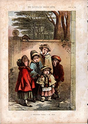 PRINT: 'A Christmas Carol'.lithograph from The Illustrated London News, December 22, 1855: ...