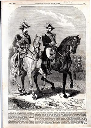 "ENGRAVING: ""'The Emperor of the French and he King of Sardinia at the Grand Review at Paris..."