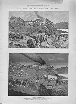 "ENGRAVING: ""How Japanese War Pictures are Made"".engravings from the Illustrated London ..."