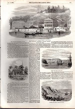 """ENGRAVING: """"'The Submarine Telegraph Between Constantinople and Varna"""". Story & ..."""