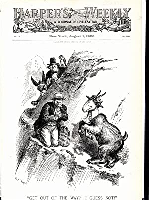 "ENGRAVING: ""Get Out of the Way? I Guess Not!"".engraving from Harper's Weekly, August..."