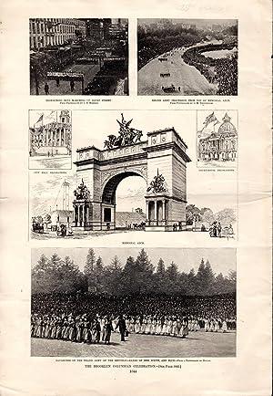 "ENGRAVING: ""The Brooklyn Columbian Celebration"".from Vol. XXXVI, #1871, October 29, 1892, p..."