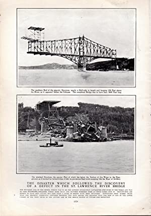 "PRINT: ""The Disaster Which Followed the Discovery of a Defect in the St. Lawrence River Bridge&..."