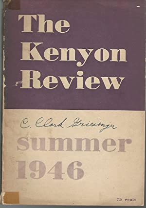 The Kenyon Review, Volume VIII, No. 3: Summer, 1946: Ransom , John Crowe & Rice , Philip Blair Eds
