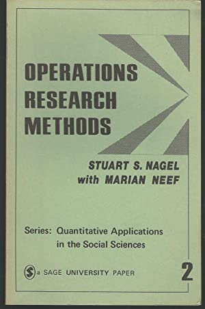 Operations Research Methods: As Applied to Political: Nagel, Stuart S.&