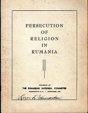 Persecution of Religion in Rumania (Romania): Unknown Editor