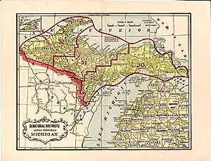 MAP: Senatorial Districts Upper Peninsula Michigan.: Wolverine Printing Co