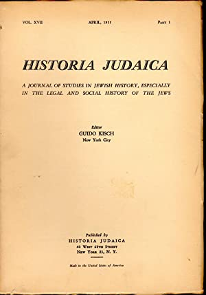Historia Judaica: A Journal of Studies in Jewish History, Espescially in the Legal and Economic ...