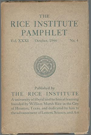 The Rice Institute Pamphlet, Volume XXXI, October, 1944, No. 4.: Dirichlet Series. Lectures ...