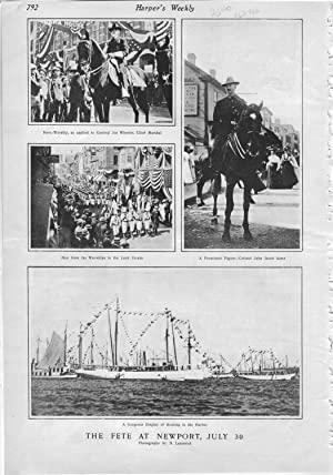 "PRINT: ""The Fete at Newport (Rhode Island), Juy 30"".photos from Harper's Weekly, August..."