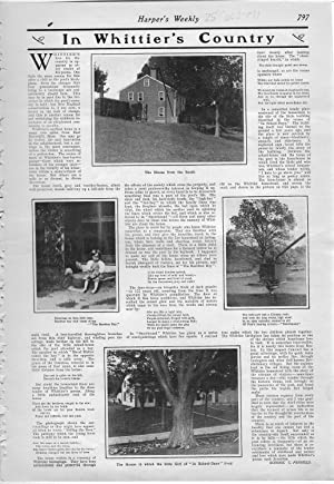 """PRINT: """"In Whittier Country"""".story & photos from Harper's Weekly, August 10, ..."""
