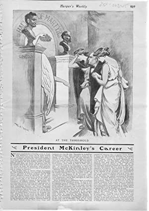 "ENGRAVING: ""At The Threshold: President McKinley's Career"".story & engraving ..."