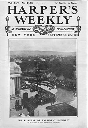 """ENGRAVING: """"The Funeral of President McKinley"""".engravng from Harper's Weekly, ..."""