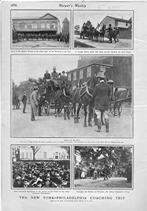 "PRINT: ""The New York-Philadelphia Coaching Trip"".photos from Harper's Weekly, ..."