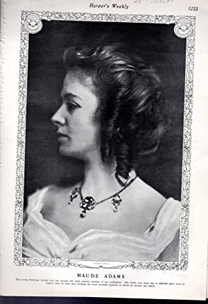 "PRINT: ""Maude Adams: At the Play.play Review: Adams, Maude) Harper's"