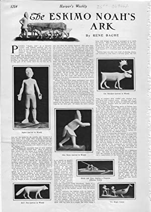 """PRINT: """"The Eskimo Noah's Ark"""".story & Photos from Harper's Weekly, December 14..."""
