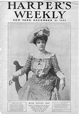 """PRINT: """"Miss Helen Hay"""".Photo from Harper's Weekly, December 21, 1901: Whitney, ..."""