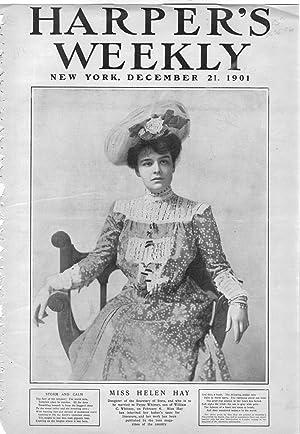 "PRINT: ""Miss Helen Hay"".Photo from Harper's Weekly, December 21, 1901: Whitney, Helen ..."