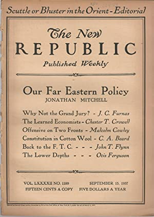 The New Republic, Volume LXXXII, No. 1189: September 15, 1937: Blevin, Bruce (editor)
